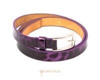 Ремень узкий женский кожаный ETERNO (ЭТЕРНО) A0129-violet