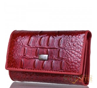 Ключница-кошелек кожаная WANLIMA (ВАНЛИМА) W72092420792-red