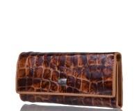 Ключница-кошелек женская кожаная WANLIMA (ВАНЛИМА) W81092670600-light-coffee