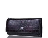 Ключница-кошелек женская кожаная WANLIMA (ВАНЛИМА) W81092670600-black-grey