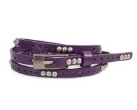 Женский узкий кожаный ремень ETERNO (ЭТЕРНО) E7093-violet