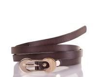 Женский узкий кожаный ремень ETERNO (ЭТЕРНО) ETS7378-10