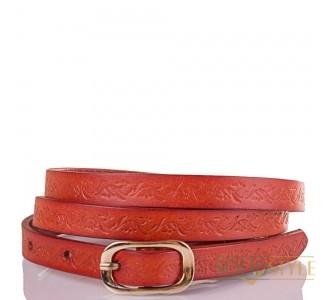 Женский узкий кожаный ремень ETERNO (ЭТЕРНО) ETS5102-12