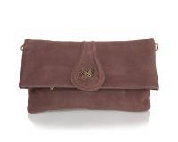Женская сумка-клатч из качественного кожезаменителя  и натуральной замши ANNA&LI (АННА И ЛИ) TU13784-khaki