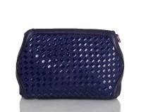 Женская сумка-клатч из качественного кожезаменителя  и натуральной замши ANNA&LI (АННА И ЛИ) TU1229-2-navy