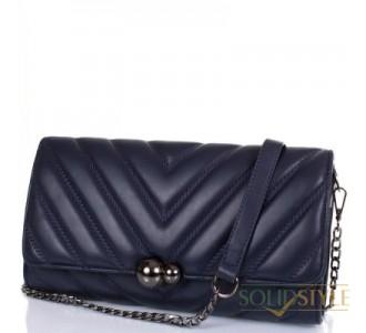 Женская сумка-клатч из качественного кожезаменителя  ANNA&LI (АННА И ЛИ) TUP14717-navy