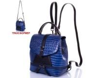 Женская кожаная сумка-рюкзак DESISAN (ДЕСИСАН) SHI573-612