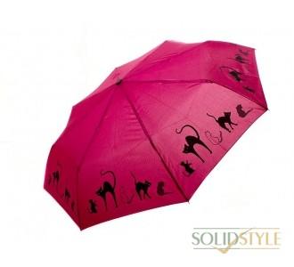 Зонт женский автомат DOPPLER (ДОППЛЕР) DOP7441465C-bordo
