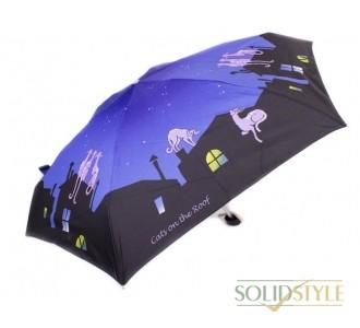 Зонт женский облегченный компактный механический  ZEST (ЗЕСТ) Z55516-1