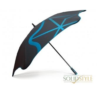Противоштормовой зонт-трость мужской механический  с большим куполом BLUNT (БЛАНТ) Bl-golf2-blue