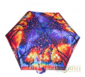 Зонт женский облегченный компактный механический  ZEST (ЗЕСТ) Z255155-09