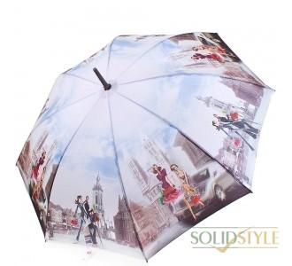 Зонт-трость женский полуавтомат ZEST (ЗЕСТ) Z21625-9