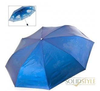 Зонт женский механический двусторонний  облегченный FARE (ФАРЕ) FARE5783-oblaka