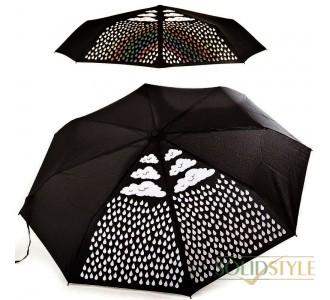 Зонт женский механический компактный облегченный  FARE (ФАРЕ) с эффектом