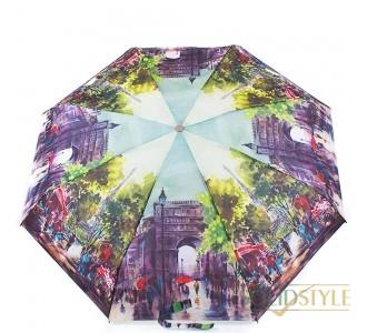 Зонт женский компактный полуавтомат ZEST  (ЗЕСТ) Z24665-9