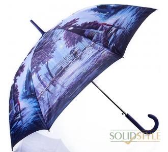 Зонт-трость женский полуавтомат ZEST (ЗЕСТ) Z21625-16