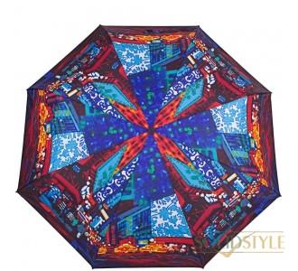 Зонт женский компактный механический ZEST  (ЗЕСТ) Z53516-2-7
