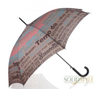 Зонт-трость женский полуавтомат HAPPY RAIN  (ХЕППИ РЭЙН) U41085-2
