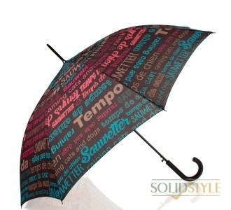 Зонт-трость женский полуавтомат HAPPY RAIN  (ХЕППИ РЭЙН) U41085-3