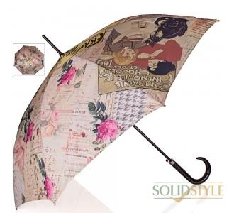Зонт-трость женский полуавтомат DOPPLER (ДОППЛЕР),  коллекция