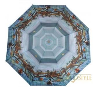 Зонт женский компактный полуавтомат ZEST  (ЗЕСТ) Z24665-5028