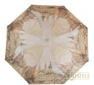 Зонт женский компактный полуавтомат ZEST  (ЗЕСТ) Z24665-5078