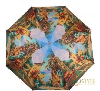 Зонт женский компактный полуавтомат ZEST  (ЗЕСТ) Z24665-4012
