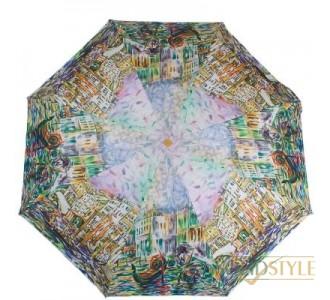 Зонт женский компактный полуавтомат ZEST  (ЗЕСТ) Z24665-5039