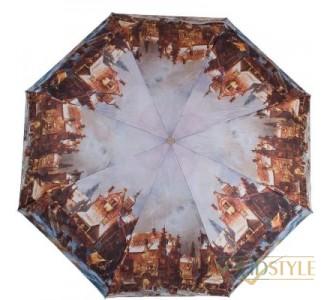 Зонт женский компактный полуавтомат ZEST  (ЗЕСТ) Z24665-5033