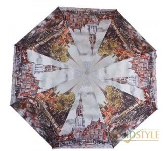 Зонт женский компактный полуавтомат ZEST  (ЗЕСТ) Z24665-5038