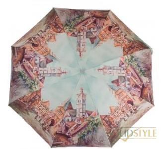 Зонт женский компактный полуавтомат ZEST  (ЗЕСТ) Z24665-3934
