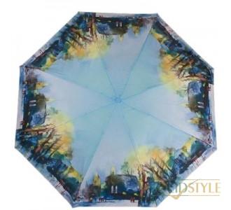Зонт женский компактный полуавтомат ZEST  (ЗЕСТ) Z24665-2033
