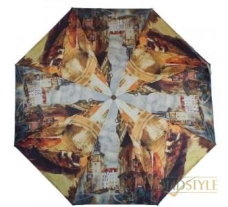 Зонт женский компактный полуавтомат ZEST  (ЗЕСТ) Z24665-4001