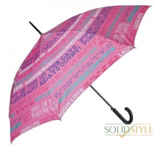 Зонт-трость женский полуавтомат HAPPY RAIN  (ХЕППИ РЭЙН) U41089-3