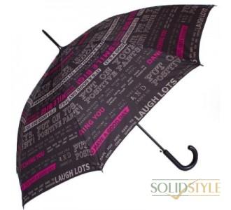 Зонт-трость женский полуавтомат HAPPY RAIN  (ХЕППИ РЭЙН) U41089-1