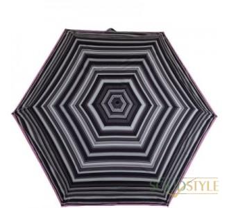 Зонт женский компактный облегченный автомат  FULTON (ФУЛТОН) FULL711-Graphite-Stripe
