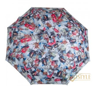 Зонт женский механический компактный облегченный  FULTON (ФУЛТОН) FULL354-London-Photographic