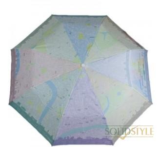 Зонт женский механический компактный FULTON  (ФУЛТОН) FULL761-London-Map