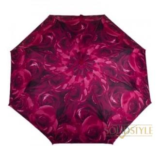 Зонт женский компактный автомат FULTON (ФУЛТОН) FULL346-Rose-Red