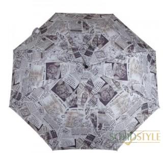 Зонт женский компактный механический FULTON  (ФУЛТОН) FULL450-Old-News