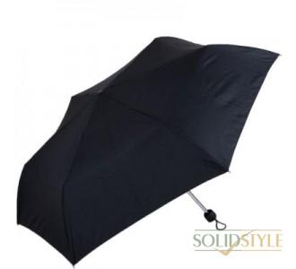Зонт мужской компактный облегченный супертонкий  механический FULTON (ФУЛТОН) FULL552-Black