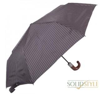 Зонт мужской автомат FULTON (ФУЛТОН) FULG818-City-Stripe-Grey