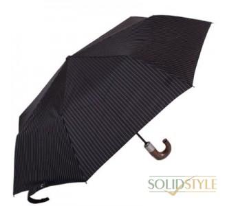 Зонт мужской автомат FULTON (ФУЛТОН) FULG818-City-Stripe-Black