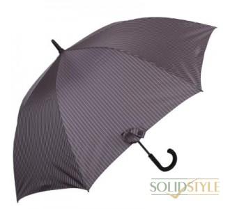 Зонт-трость мужской полуавтомат FULTON(ФУЛТОН) FULG451-City-Stripe-Grey