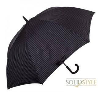 Зонт-трость мужской полуавтомат FULTON(ФУЛТОН) FULG451-City-Stripe-Black