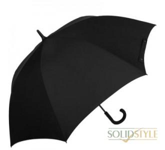 Зонт-трость мужской полуавтомат с большим  куполом FULTON(ФУЛТОН) FULG828-Black