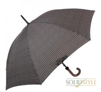 Зонт-трость мужской механический с двойными  спицами и большим куполом FULTON (ФУЛТОН) FULG817-Tweed