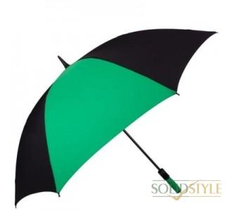 Противоштормовой зонт-трость мужской механический  с большим куполом FULTON (ФУЛТОН) FULS837-Black-Green