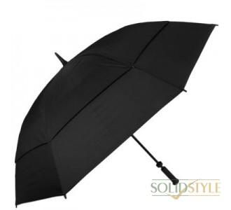 Зонт-трость противоштормовой мужской механический  FULTON (ФУЛТОН) FULS669-Black