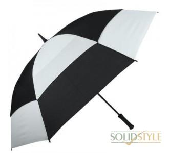 Зонт-трость противоштормовой мужской механический  FULTON (ФУЛТОН) FULS669-Black-White